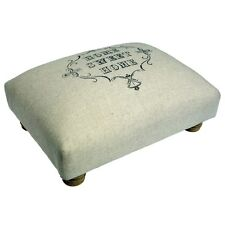dotcomgiftshop HOME SWEET HOME PADDED FOOT STOOL WOOD & COTTON