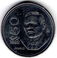 1988 MEXICO 50 PESOS WORLD COIN NICE!
