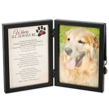 Where I'll Always Be Dog Memorial 5x7 Picture Frame with Pet Tag