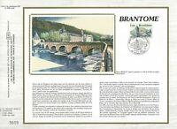 Foglio CEF 1er Giorno Sul Seta Francia Brantôme 1983