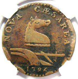 1786 New Jersey Coin (Beam Straight, M-26S, W-4995, R5) NGC VF Detail - Rarity-5