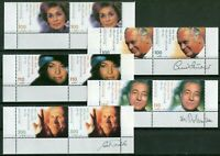 Bund Nr. 2143 - 2147 postfrisch Eckrand waagerechte Paare Schauspieler 2000 MNH