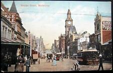 AUSTRALIA~1900's MELBOURNE ~ Bourke Street ~ Boy Sweeping Up Horse Manure