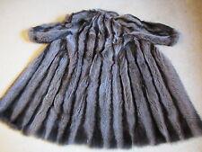 Impresionante de lujo Lanvin Largo Completo Abrigo Diseñador de piel verdadera