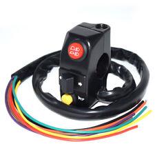 1x Universal Motorcycle Handlebar Mount Horn Electronic Turn Signal Light Switch