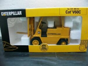 WOW EXTREMELY RARE #215 Caterpillar V60C Forklift Truck Dark Yellow 1:25 Joal