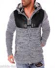 Chaqueta De Punto Hombre Cálido grueso invierno Suéter Jersey con lana NUEVO