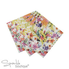 FLORAL FIESTA PAPER CANAPE NAPKINS x40 - Summer Garden Party -FULL RANGE IN SHOP