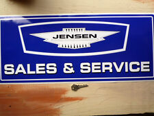 JENSEN SALES & SERVICE large Workshop Garage Sign Sticker Interceptor CV8 Healey