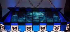 "CUSTOM SKULL 40"" STAINED GLASS POOL TABLE LIGHT HANGING BAR GARAGE GAME LAMP"