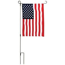 USA Garden Flag Kit American Flag 12x18inches and Iron Pole Patriotic New