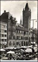 BASEL Bale Schweiz alte AK Postkarte 50er J. gebraucht