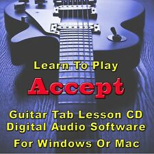 ACCEPT Guitar Tab Lesson CD Software - 87 SONGS