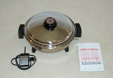 """KarenWare / Time-O-Matic 12.5"""" Oil Core Waterless Electric Skillet by West Bend"""