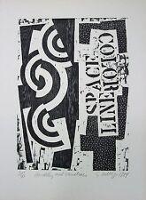 STEPHEN MELTZER Signed 1984 Original Woodcut
