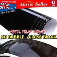 Bubble Free Vinyl Wrap High Gloss Black Film Car Body Decal Protection 20CMx1.5M