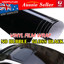 Bubble Free Vinyl Wrap Gloss Black Film Sheet Car Decal Production 20CM x 1.51M