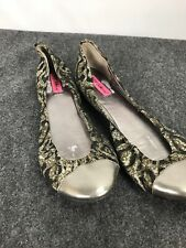 Betsey Johnson Animal Print Ballet Flats Shoes  Size 10 M  D04