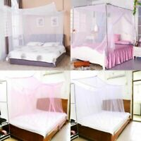 4 Corner Post Bed Canopy Mosquito Net Full to King Size Netting Bedding For Room