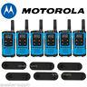 Motorola Talkabout T100 Walkie Talkie 6 Pack Set 16 Mile Two Way Radios Blue New