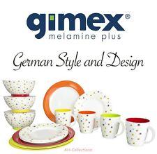 Gimex Melamin 16-tlg. Camping Geschirr Set Rainbow Flowers Dinnerware