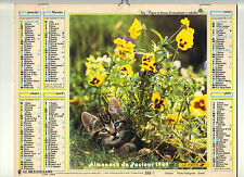 CALENDRIER, ALMANACH PTT DOUBLE - ANNEE 1989 - CHATON ET COLLEYS - NORD