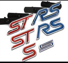 Ford Emblem Abzeichen Styling 3D Metal S RS ST VORNE-HINTEN FIESTA FOCUS MONDEO