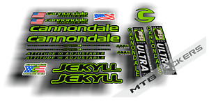 Cannondale Jekyll frame decals mountain bike cycling mtb stickers