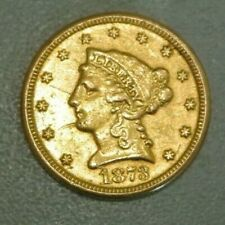 2 1/2 DOLLARS OR /GOLD 1873 RARE  met trace monture revers centre