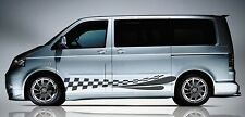 VOLKSWAGEN Transporter/Caravelle T5/T6 Panel Lateral bandera Splash Decal Sticker Set