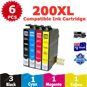 6x Compatible Ink Cartridge 200XL 200 XL For Epson XP200 XP300 XP400 XP410