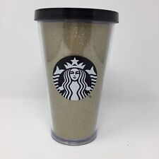 203b4d9f1c7 Starbucks Gold Glitter Black Siren Acrylic Cold Cup Tumbler 16 Fl Oz Travel  Cup