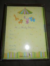 Baby shower papyrus animals greeting cards invitations for sale ebay papyrus yellow animal circus baby shower invitations 10 count new in box filmwisefo