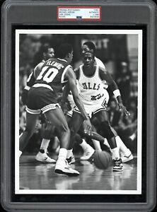 Michael Jordan 1984/85 Rookie Bulls NBA Type 1 Original Color Photo PSA/DNA