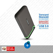 "Transcend StoreJet :: External Hard Drive Enclosure 2.5"" SATA USB 3.0, Mac / Win"