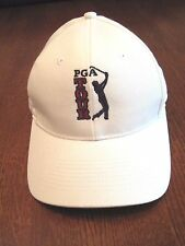PGA Tour cap/hat White embroidered logo Size 7 by Fitted Head gear