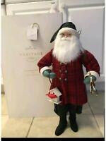 "Hallmark Heritage Collection Woodsman Santa Figurine 20"" Christmas decoration"