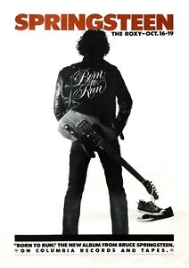 """Reproduction """"Bruce Springsteen - The Roxy"""" Poster, Various Sizes"""