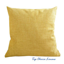 45cm x 45cm Home Decorative Solid Color Linen Look Cushion Cover-Yellow