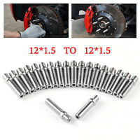 20Pcs 57MM EXTENDED WHEEL STUD CONVERSION M12*1.5-M12*1.5 SCREW ADAPTER For Audi