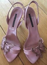 Jules Pink Leath Pied A Terre Heels Size 5
