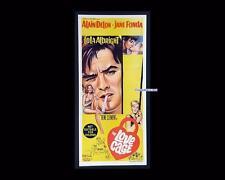 Love Cage 1964 Joy House Alain Delon Jane Fonda Daybill Orig Australian Poster