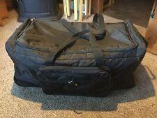 "Pre Owned Large EMT Equipment Bag.  Black Nylon. 35"" L x 19"" W x 16""H. On Wheels"