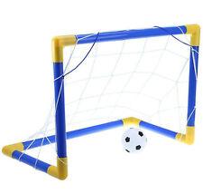 KIDS CHILDRENS MINI FOOTBALL SOCCER GOAL NET SET WITH BALL PUMP INDOOR OUTDOOR