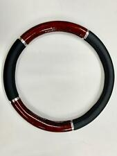 Steering Wheel Cover Black / Wood Soft Leather Look Arthritis Aid For Mercedes