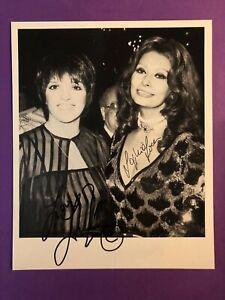 Sophia Loren & Liza Minnelli 20x25cm Signiertes Foto. Autogramm / Autograph