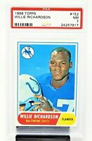 1968 Topps Baltimore Colts WILLIE RICHARDSON Football Card PSA 7 NEAR MINT