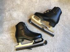 GRAF 500 Black Leather Inline Figure Ice Skates Size 42 UK Size 8