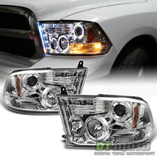 2009-2018 Dodge Ram 1500 2500 Pickup LED Halo Projector Headlights DRL Headlamps