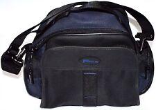 Targus Delux Padded Camera Camcorder Bag Case Travel Shoulder Safer Blue Grey
